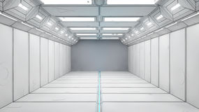 pasillo futurista 3d Fotografía de archivo libre de regalías