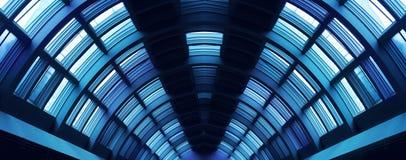 Pasillo futurista del vestíbulo Foto de archivo libre de regalías