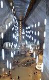 Pasillo grande de la mina de sal de Turda Fotos de archivo libres de regalías