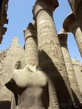 Pasillo hipóstilo en Karnak Imagenes de archivo