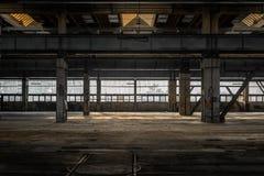 Pasillo industrial grande de una estación de la reparación Fotografía de archivo libre de regalías