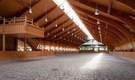 Pasillo interior del montar a caballo Foto de archivo libre de regalías