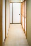 Pasillo japonés de la casa Fotografía de archivo libre de regalías