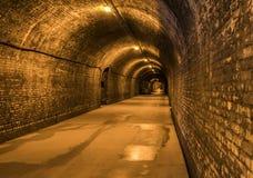 Pasillo largo de Castellane del sótano Foto de archivo libre de regalías
