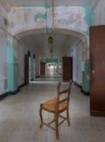 Pasillo largo dentro del asilo loco transporte-Allegheny Fotos de archivo libres de regalías