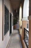 Pasillo marroquí de la casa Fotos de archivo