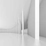 Pasillo moderno blanco Imagen de archivo