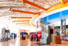 Pasillo moderno (museo de la ciencia y de la tecnología) Foto de archivo