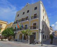 Pasillo municipal en Almunecar - España imágenes de archivo libres de regalías