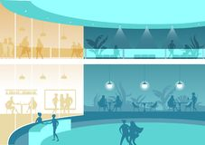 Pasillo o recepción de un edificio de oficinas grande libre illustration