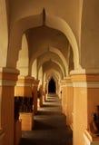 Pasillo ornamental de la gente del palacio del maratha del thanjavur Foto de archivo