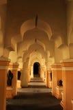 Pasillo ornamental de la gente del palacio del maratha del thanjavur Fotos de archivo