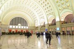Pasillo principal de la estación de Washington Union - WASHINGTON DC - COLUMBIA - 9 de abril de 2017 fotos de archivo