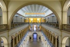 Pasillo principal de la universidad de Zurich, ETH Foto de archivo