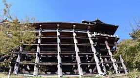 Pasillo principal del templo de Kiyomizu, Kyoto Fotos de archivo
