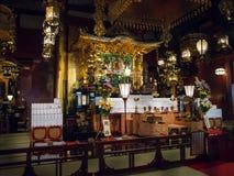 Pasillo principal en el templo del 寺 del ‰ del  del è del æµ de Sensoji…, Tokio, Japón Pagoda foto de archivo