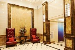 Pasillo que espera del hotel Imagen de archivo