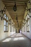 Pasillo que visualiza los trophys de la caza, castillo francés de chambord, Loire Valley, Francia Imagenes de archivo