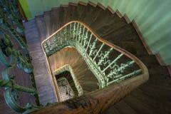 Pasillo retro de las escaleras Imágenes de archivo libres de regalías