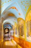 Pasillo rico adornado en St Job Church Imagen de archivo libre de regalías