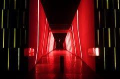 Pasillo rojo Fotografía de archivo libre de regalías