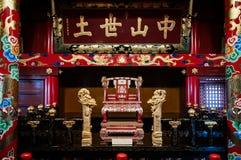 Pasillo rojo del trono del castillo de Shuri, Naha, Okinawa, Japón foto de archivo