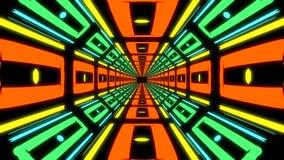 Pasillo sin fin colorido abstracto de elementos idénticos Fotos de archivo