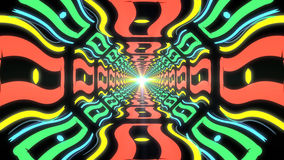 Pasillo sin fin colorido abstracto de elementos idénticos Imágenes de archivo libres de regalías