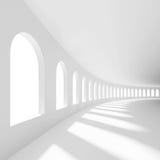 Pasillo vacío blanco Foto de archivo libre de regalías