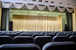 Pasillo vacío del auditorio Imagen de archivo libre de regalías