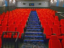 Pasillo vacío del cine Imagen de archivo