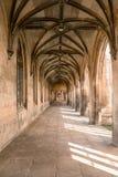 Pasillo viejo del castillo Imagenes de archivo