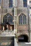 Pasillo y calle medievales Imagenes de archivo