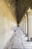 Pasillos de Angkor Wat Imagen de archivo libre de regalías
