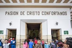 Pasion de Cristo Confortanos Monserrate Bogotá Foto de archivo libre de regalías