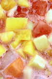 Pasion fruits juice close up Royalty Free Stock Photo