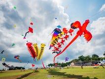 Pasir Gudang世界风筝节日2018年 库存图片