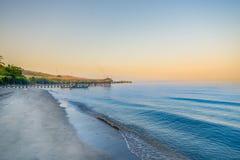 Pasir Putih海滩, situbondo 库存图片