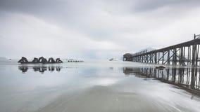 Pasir Putih plaża, trenggalek, Java, Indonesia obrazy stock