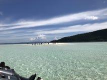 Pasir Timbul Raja Ampat Papua Indonezja obrazy stock