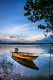 PasirMas 22 Mei 2016: sikt av fartyget i Kwong sjön i Malaysia Arkivfoto