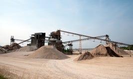 pasków konwejeru łupu piasek Zdjęcia Stock