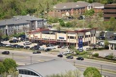 Paska plac blisko śródmieścia i centrum handlowe, Nashville, TN zdjęcie royalty free