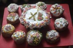 PaskhA do bolo da Páscoa imagens de stock
