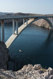 Paski-Brücke (PAG-Brücke) Stockfoto