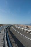 Paski-Brücke (PAG-Brücke) Lizenzfreies Stockbild