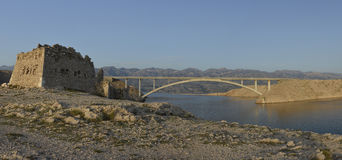 Paski bridge (Pag bridge) Stock Image
