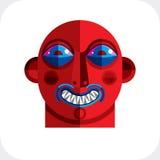 Płaski projekta rysunek osoby twarz, sztuka obrazek robić w kubizmu Obrazy Stock