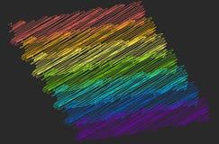 Paski t?cza barwi? na czarnym tle LGBT symbol royalty ilustracja
