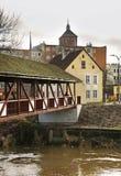 Pasleka river in Braniewo. Poland Royalty Free Stock Photos